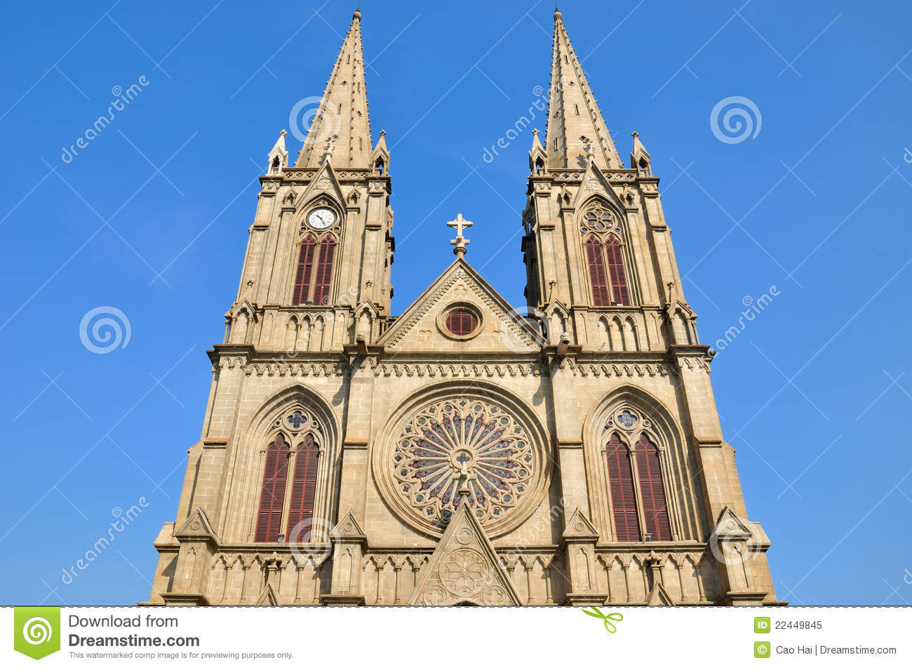A catholic church in gothic architecture style stock image for Architecture technique