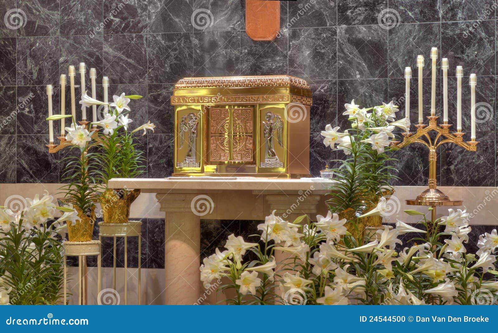 catholic church tabernacle stock photo