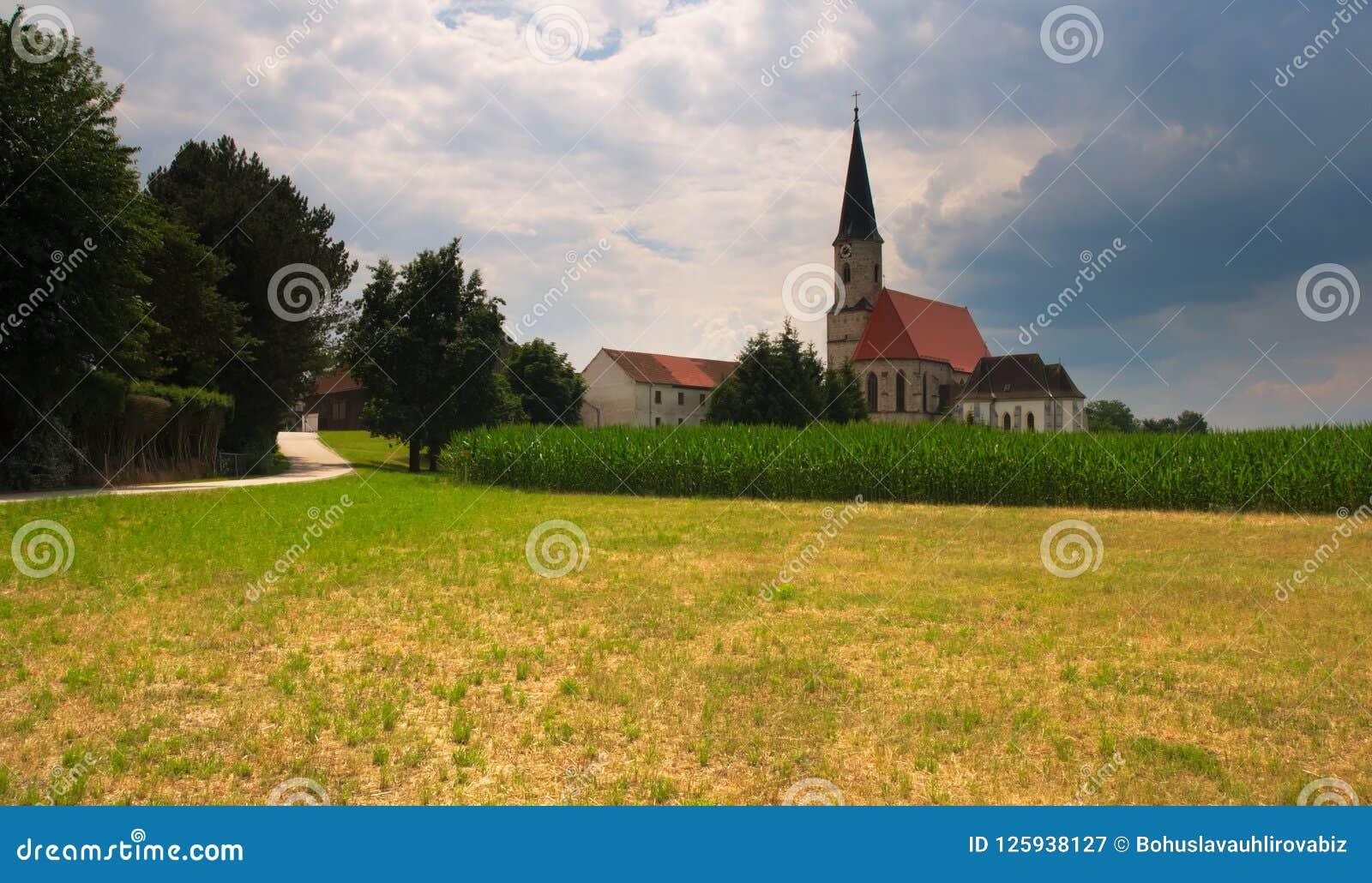 Catholic church at Kirchdorf am Inn, Upper Austria