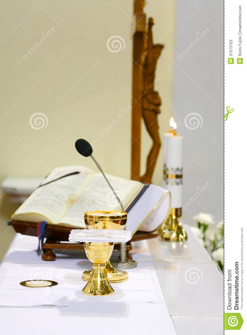 Catholic mass stock image image of alter hand goblet for Holy grail farcical aquatic ceremony