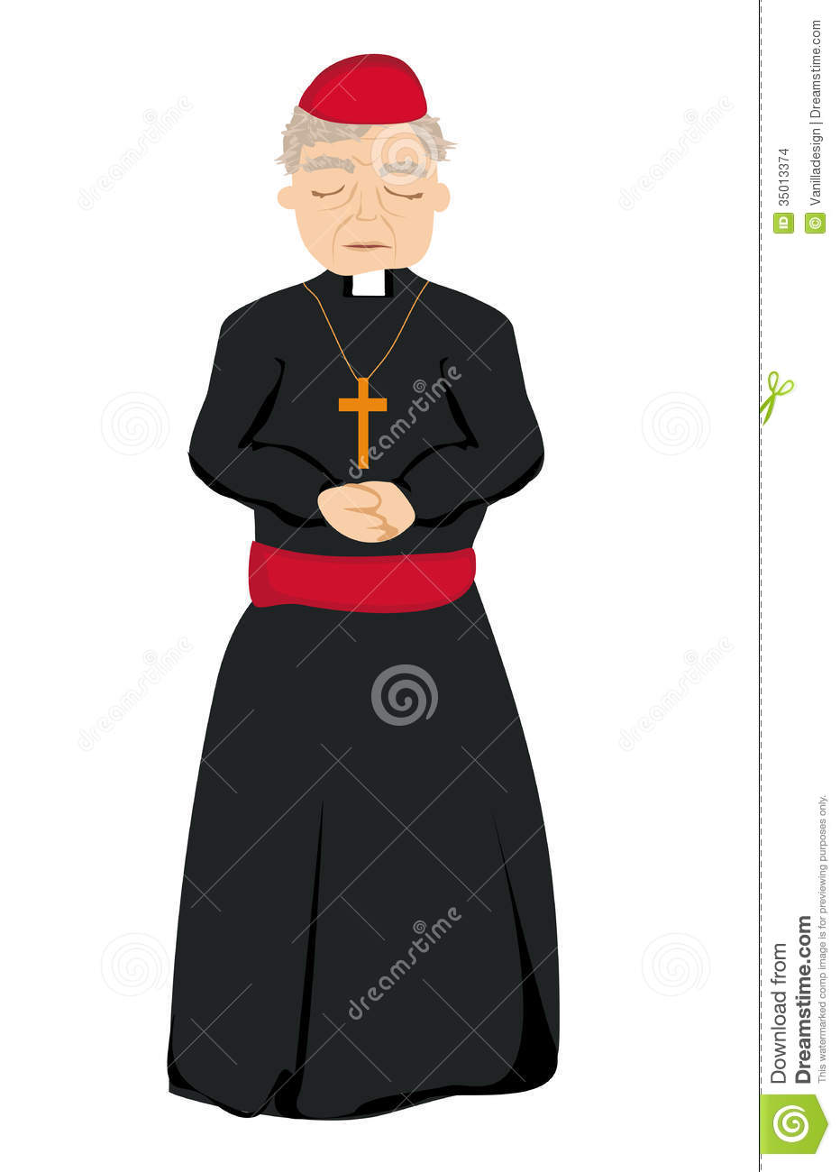 Catholic Priest On A White Background Stock Images - Image: 35013374