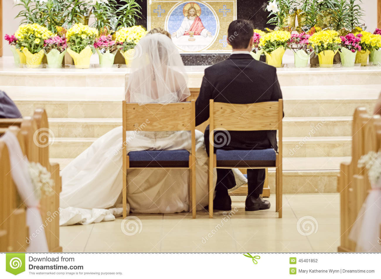 Catholic Wedding Stock Photo Image 45401852
