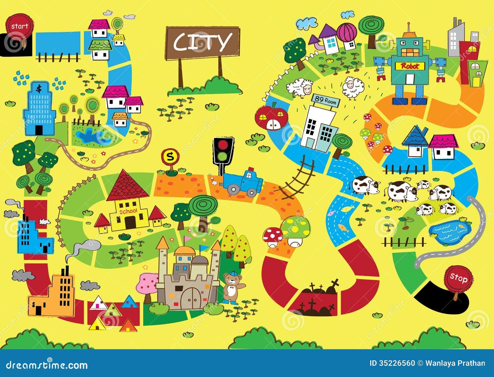 Catoonkaart van Stad
