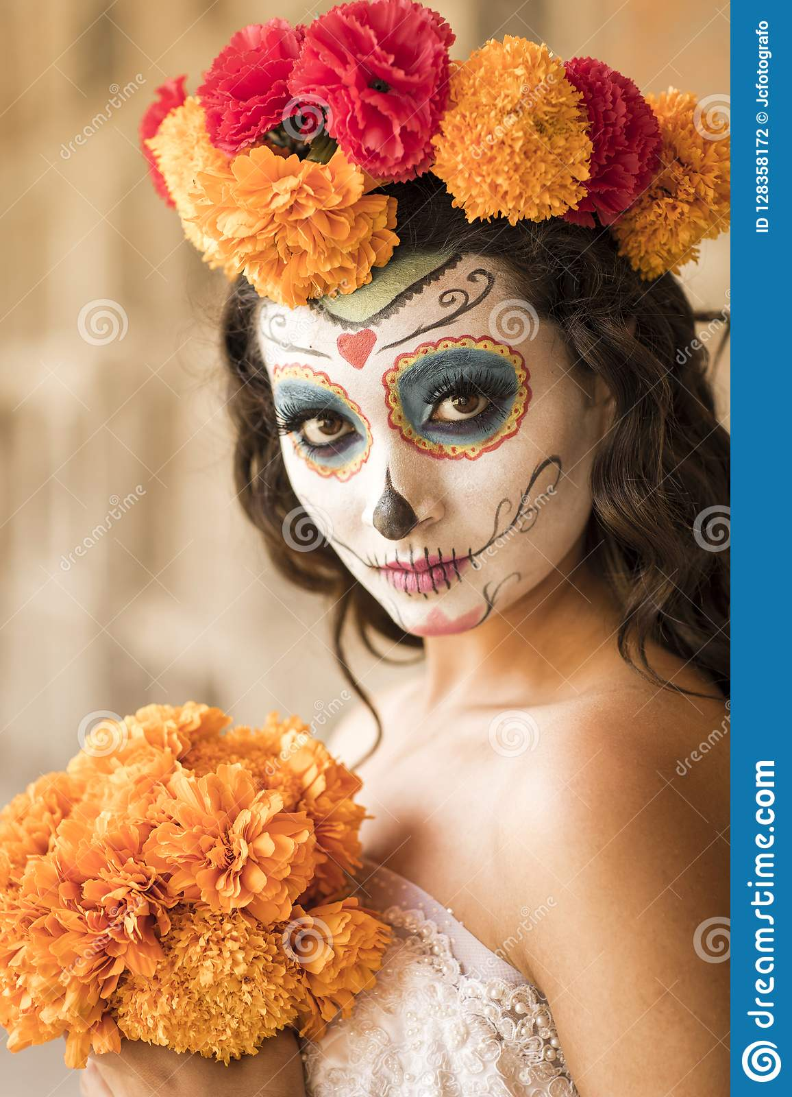 Catrin And Catrina In Cemetery Stock Photo Image Of Death Eyes