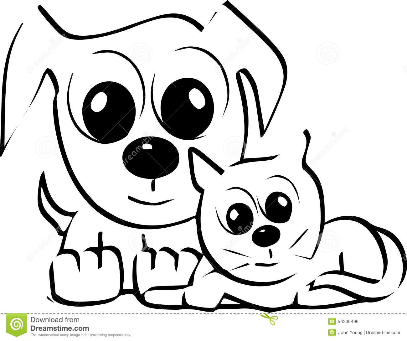 Cats amp Dogs Stock Vector Image 54206496