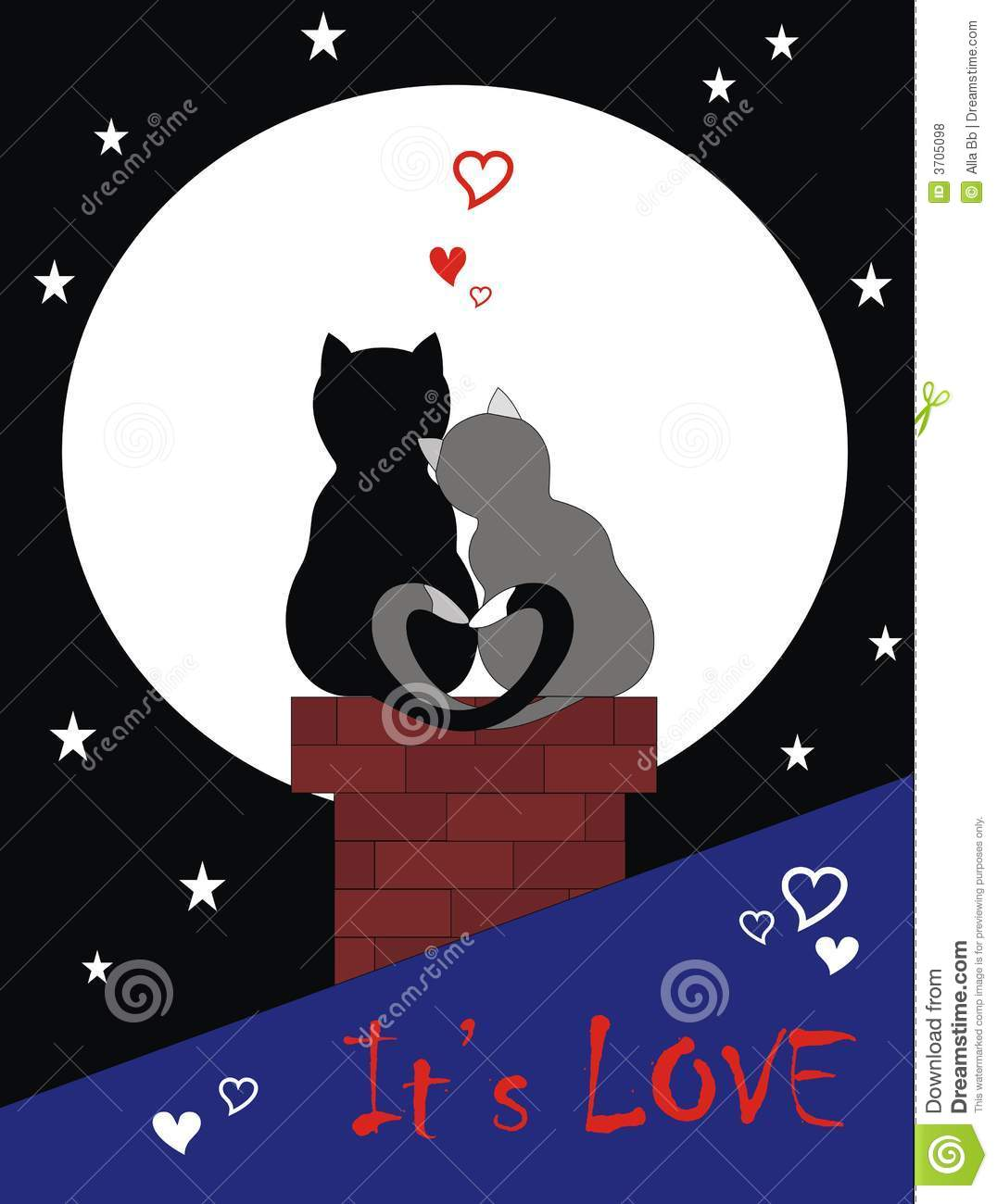 Cats In Love Royalty Free Stock Photos - Image: 3705098