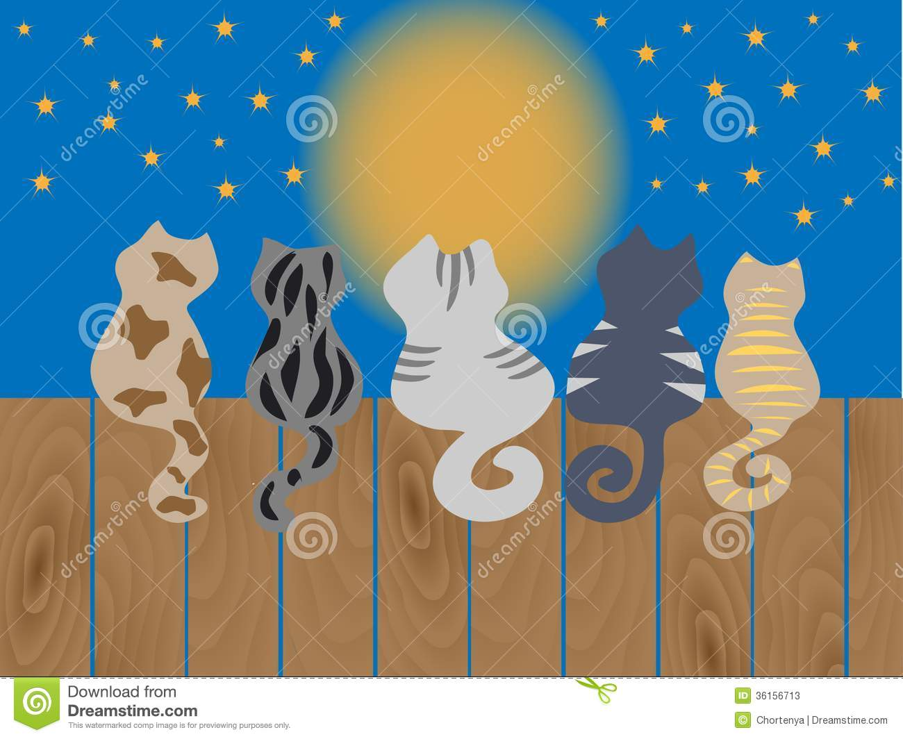 cat on fence clip art