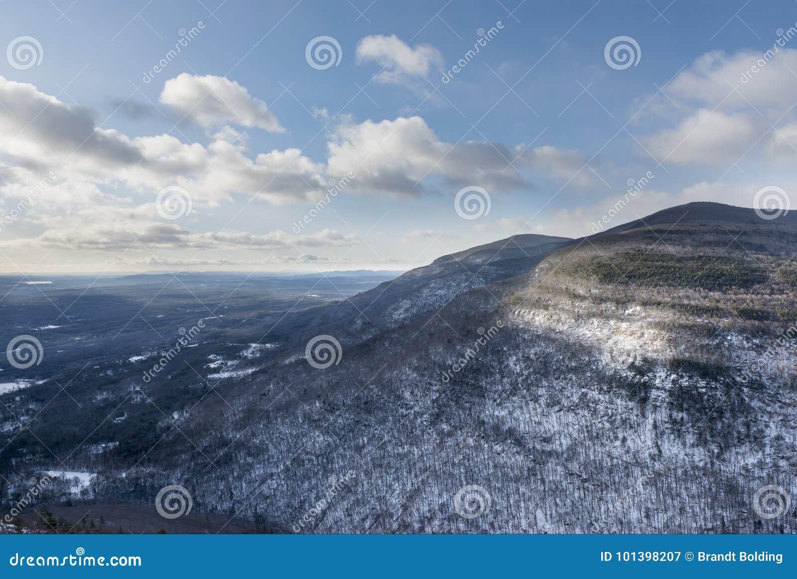 Catskill berg i vinter