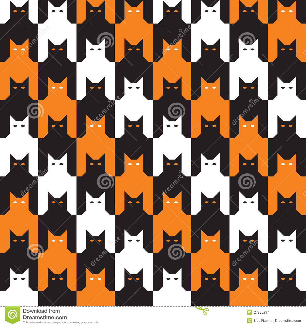 catstooth halloween pattern royalty free stock photography image