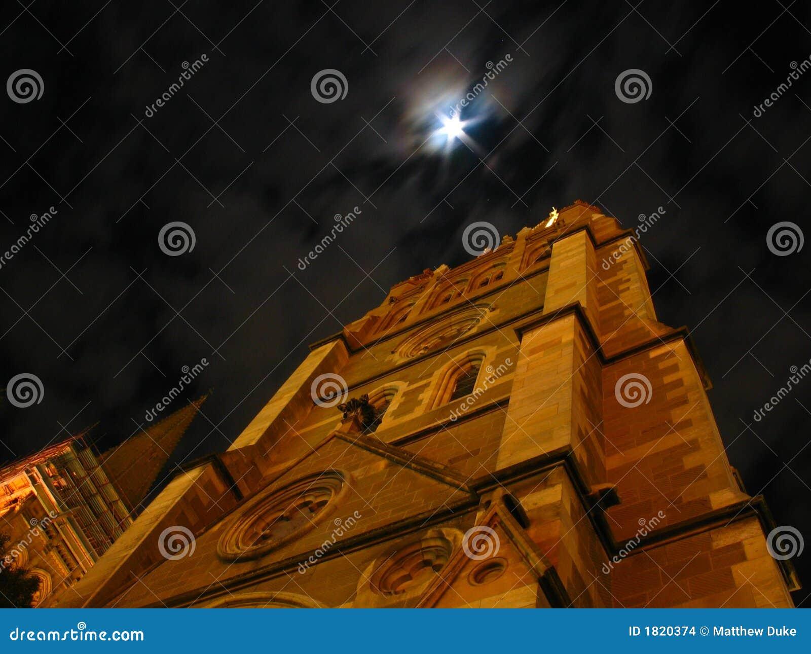 Cattedrale della st Paul alla notte
