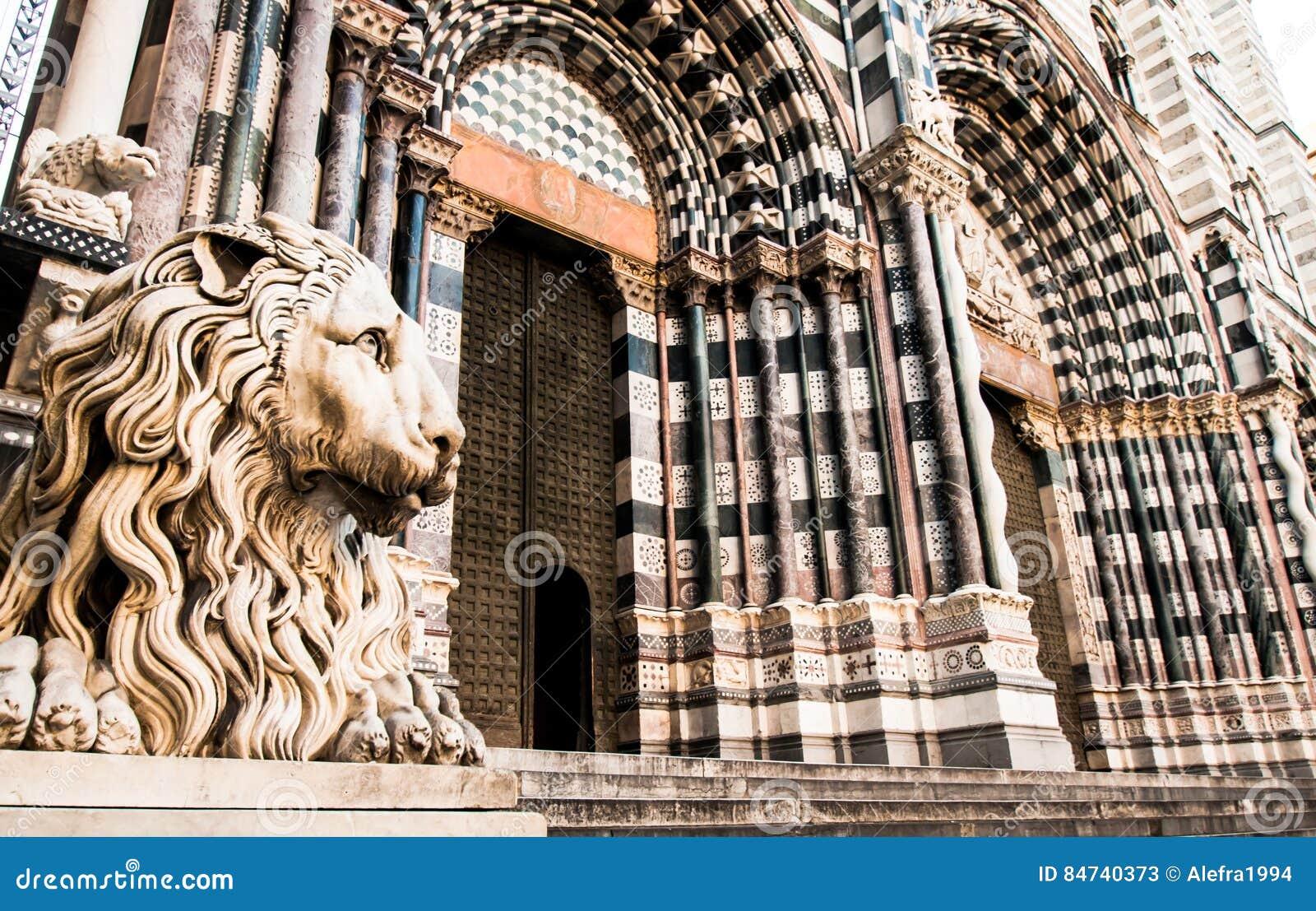 Cattedrale di Lawrence del san a Genova Italia
