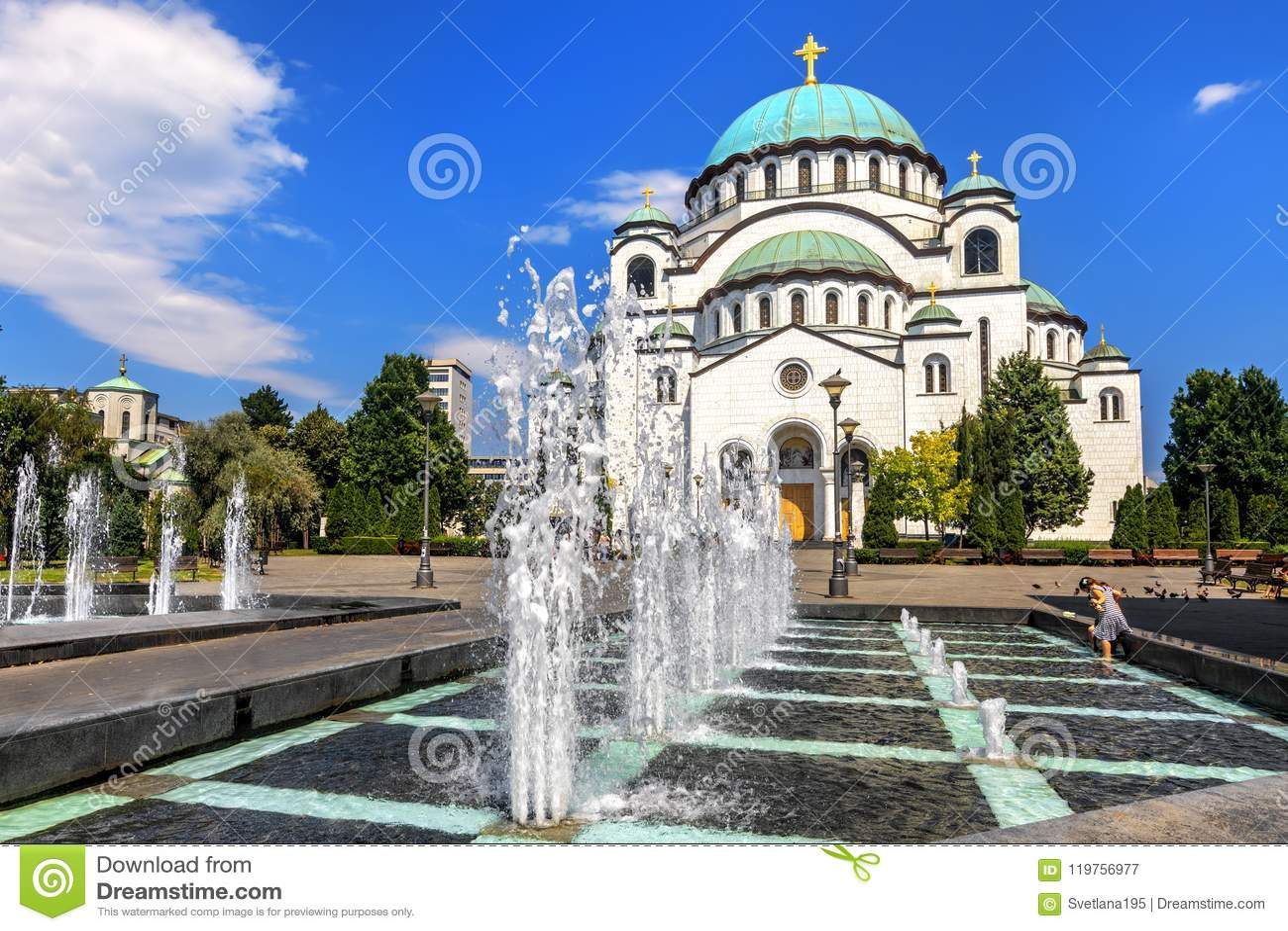 Cattedrale di Sava del san a Belgrado, Serbia