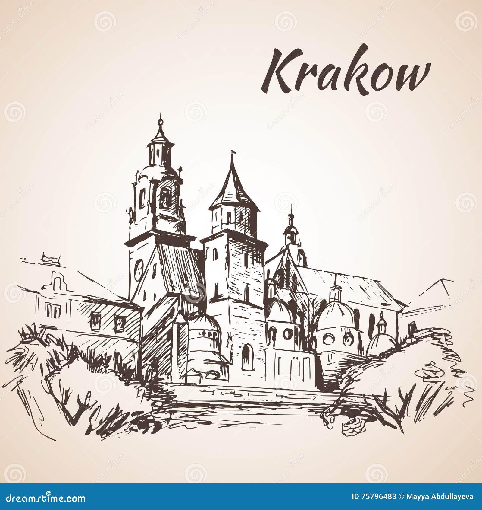 Cattedrale di Wawel - Cracovia, Polonia abbozzo