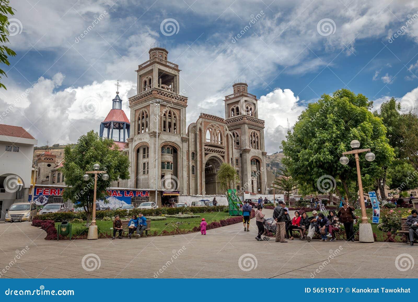 Cattedrale in Huaraz, Perù, Sudamerica