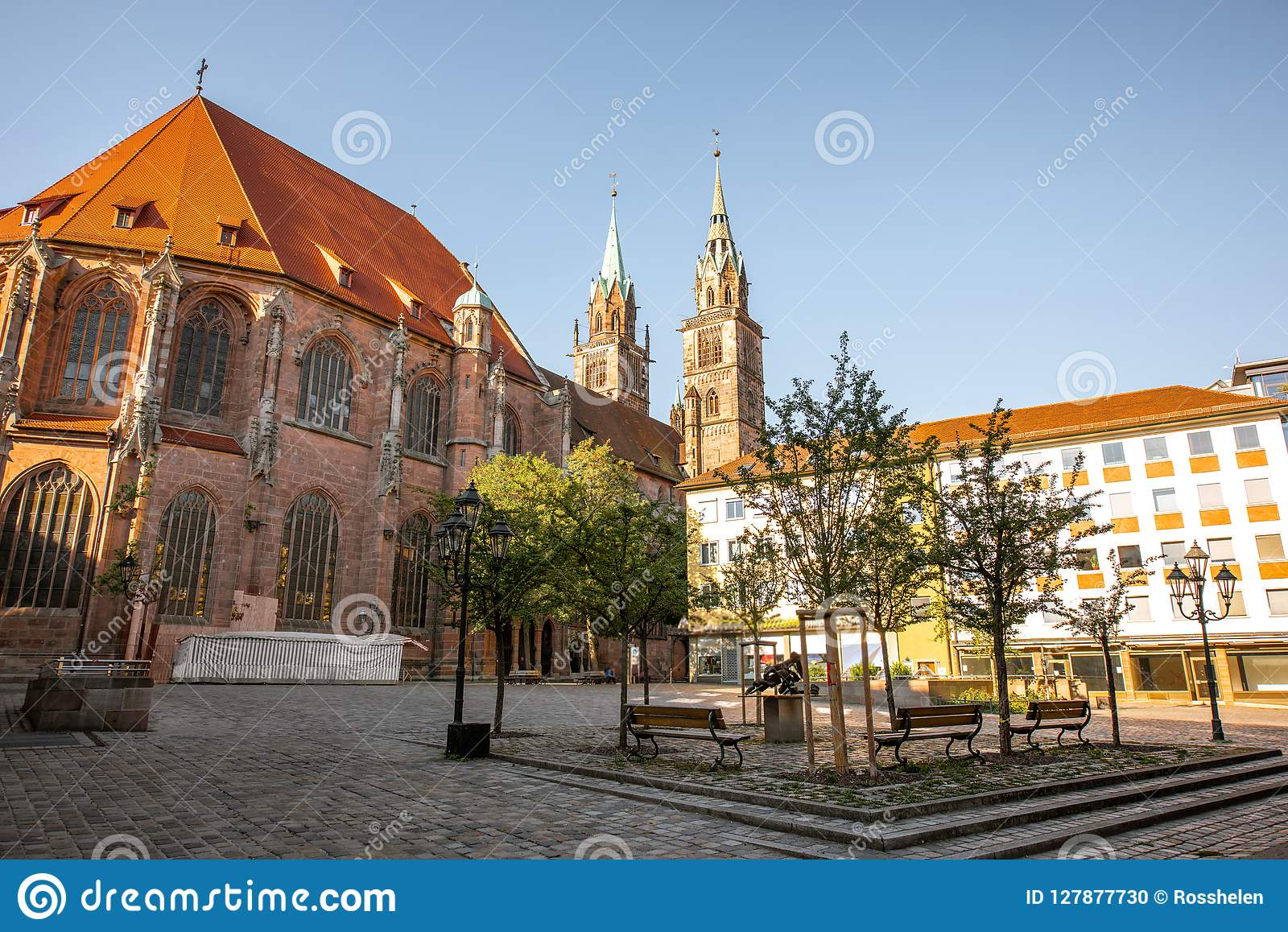 Cattedrale in Nurnberg, Germania