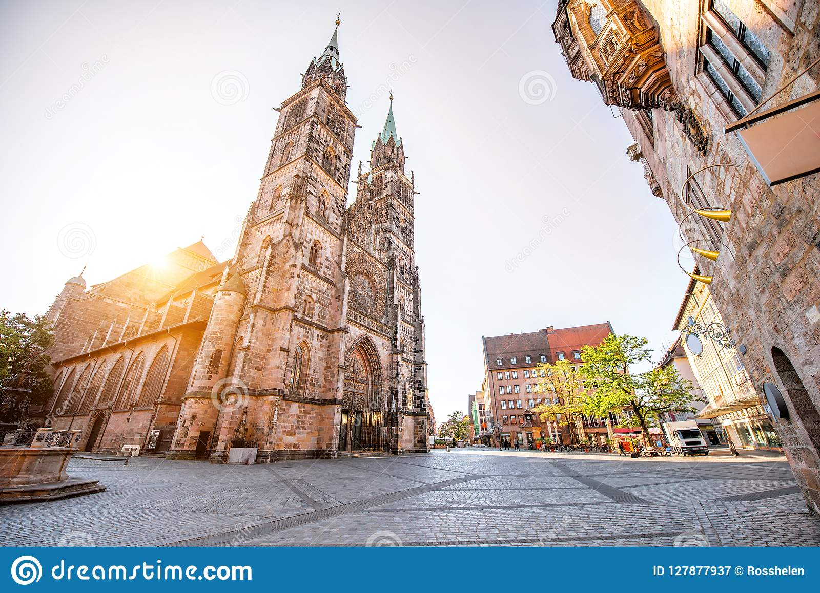 Cattedrale in Nurnberg, Germania