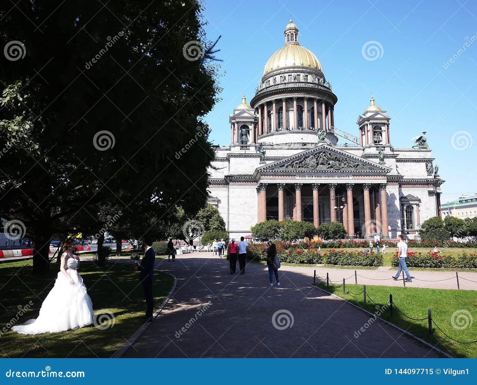 Cattedrale St Petersburg della st Isaac La capitale del mare della Russia Dettagli e primo piano