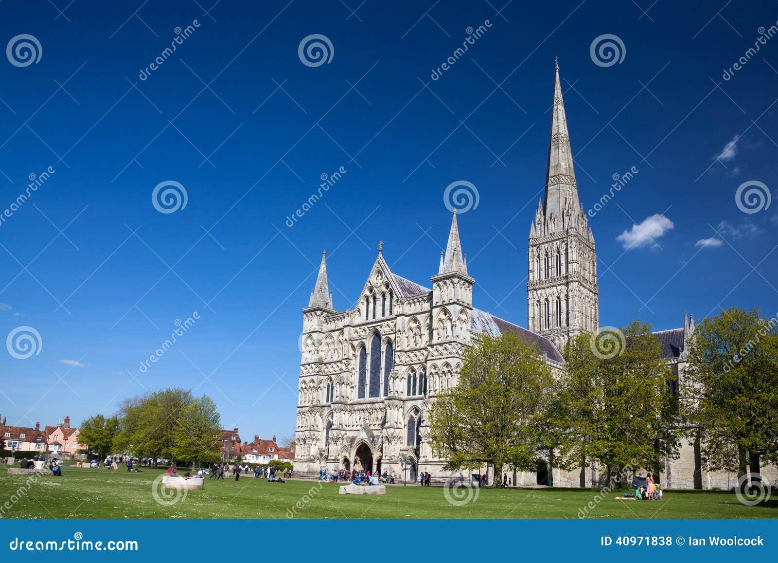 Cattedrale Wiltshire Inghilterra Regno Unito di Salisbury