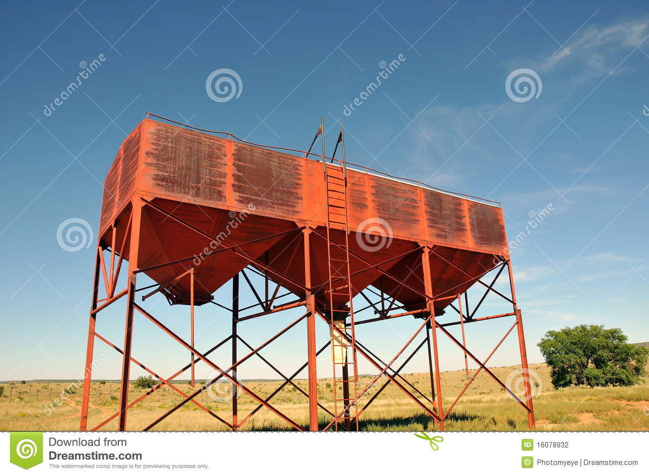 Cattle feed tower stock photo  Image of summertime, silo