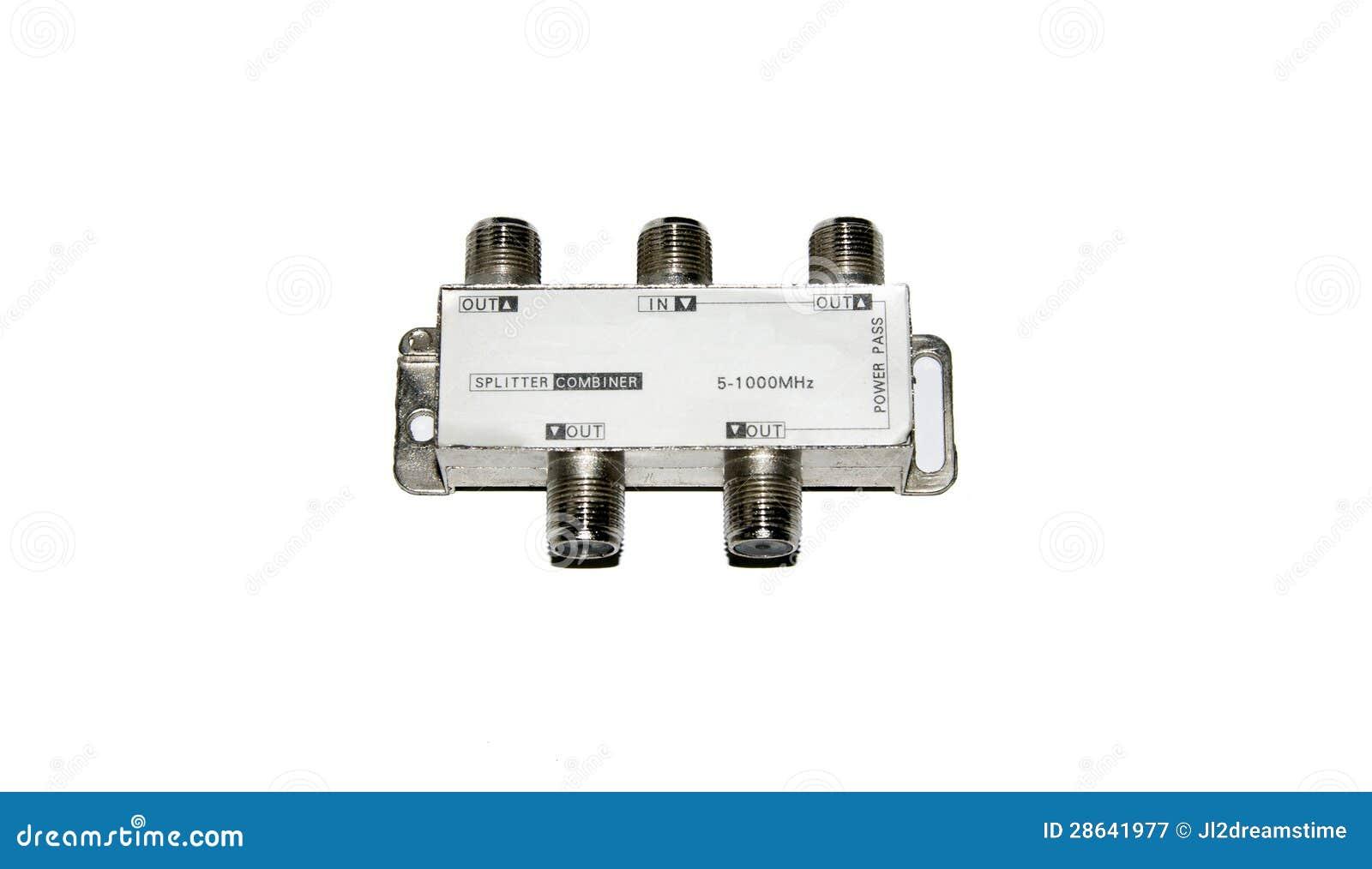 Catv rf splitter stock image  Image of communication - 28641977
