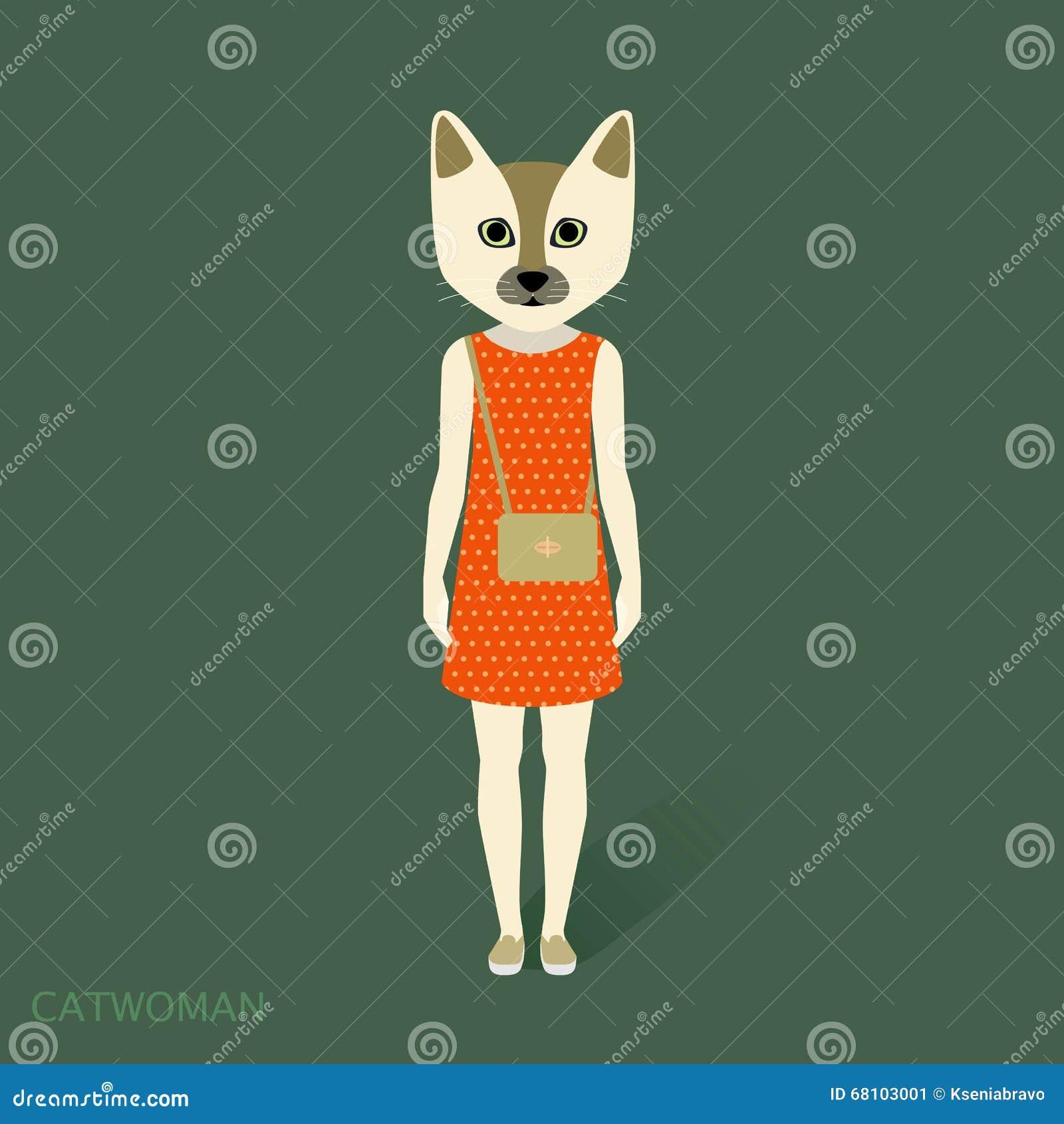 Catwoman klänning