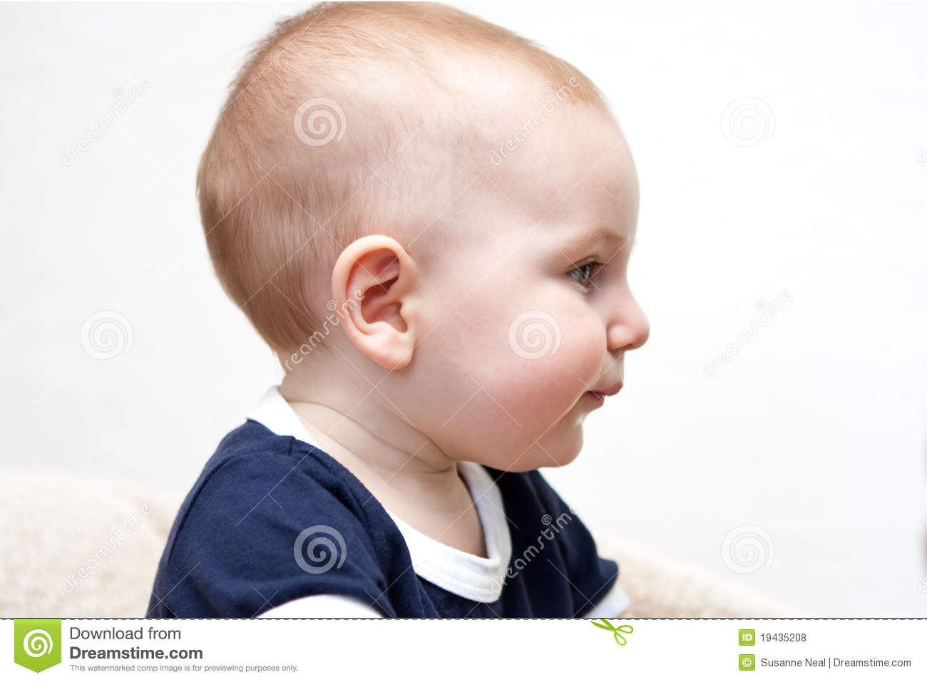 Caucasian Baby's Profile - Blue Eyes Royalty Free Stock ...