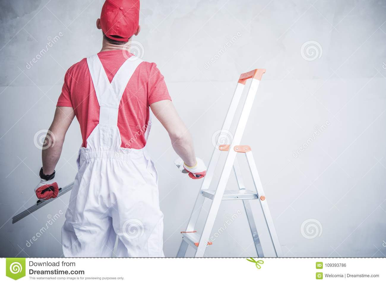 Worker Preparing For Patching