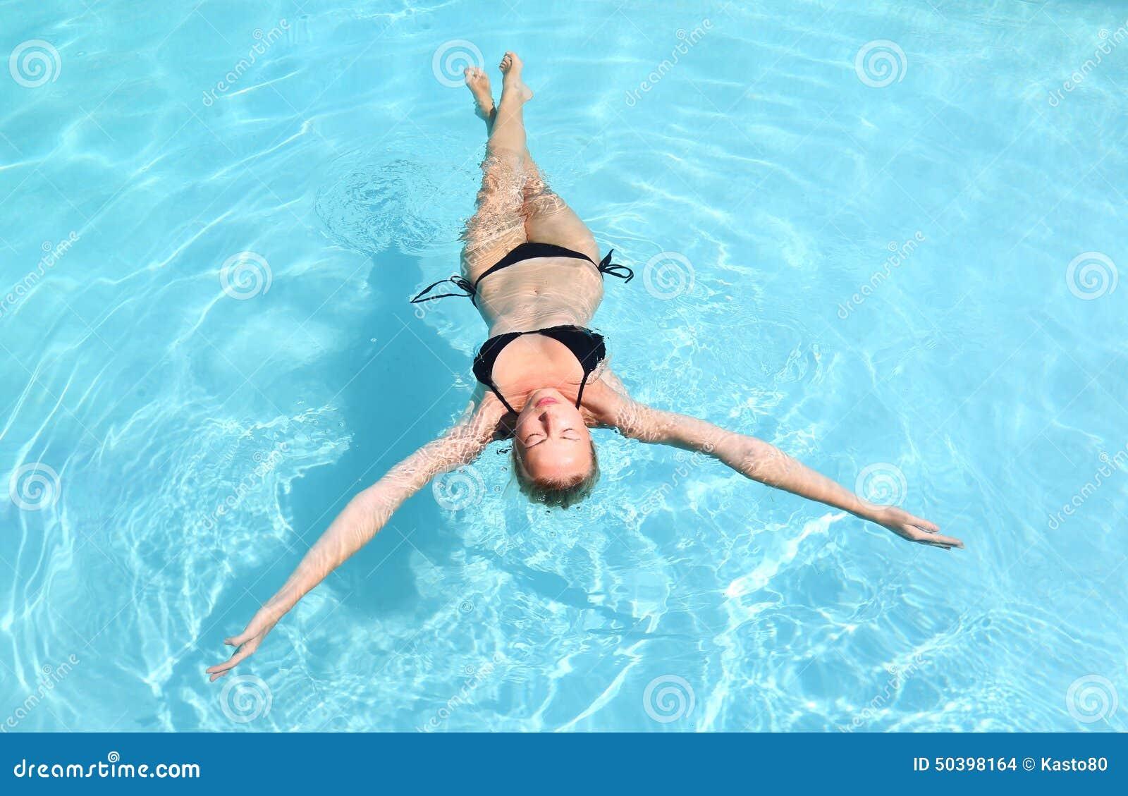 Senior Lady Swimming In Pool Royalty Free Stock Image - Image ...