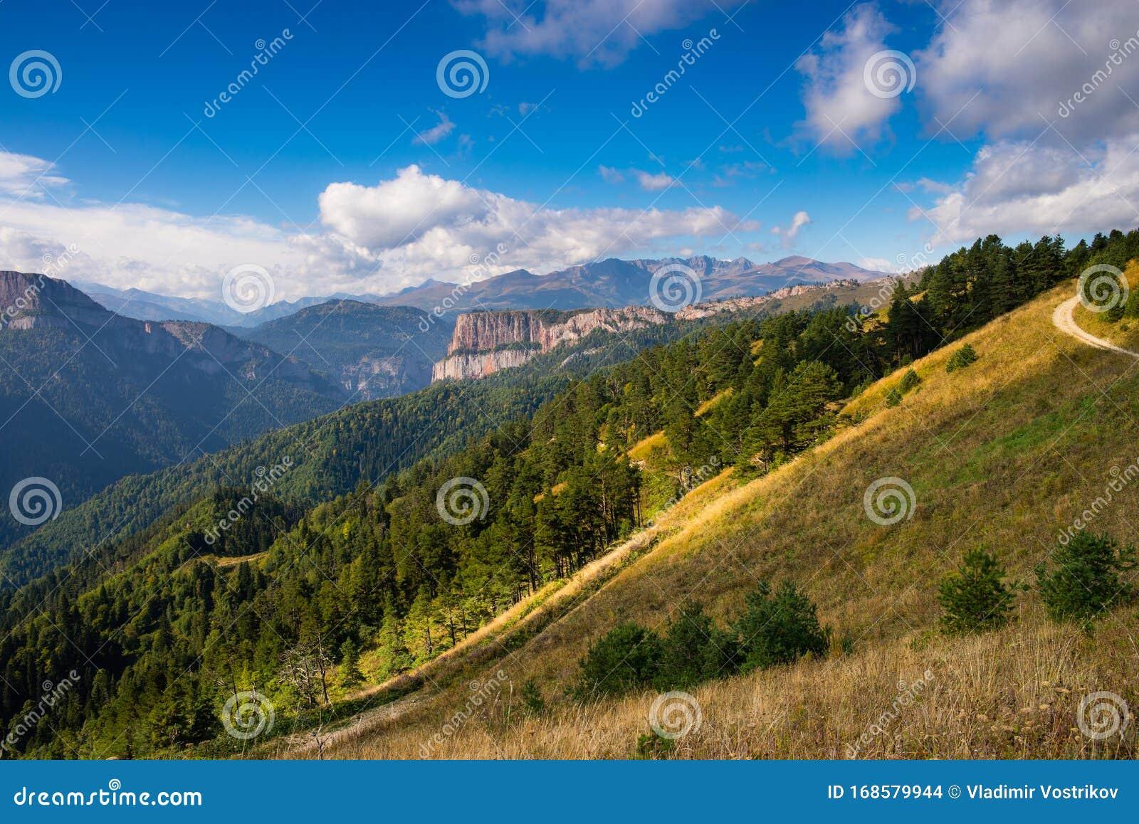 Caucasian Mountains Of The Republic Of Adygea, Krasnodar Region ...