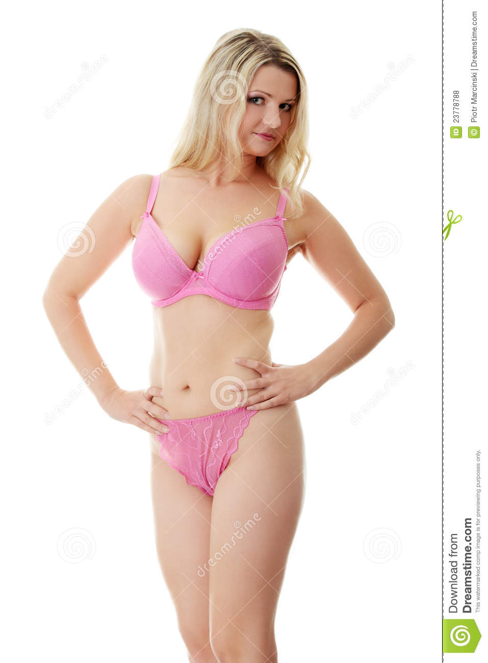 Caucasian Plus Size Woman In Underwear Royalty Free Stock Photos ...
