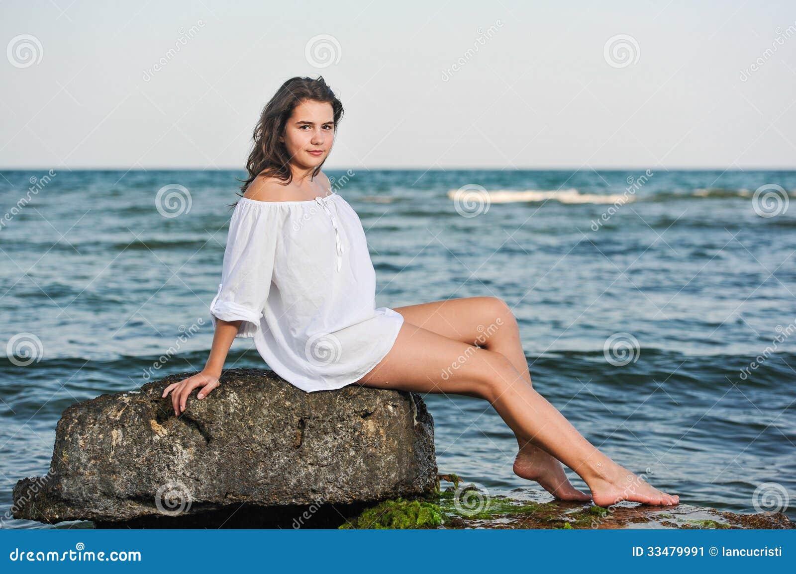 girl sitting Bikini