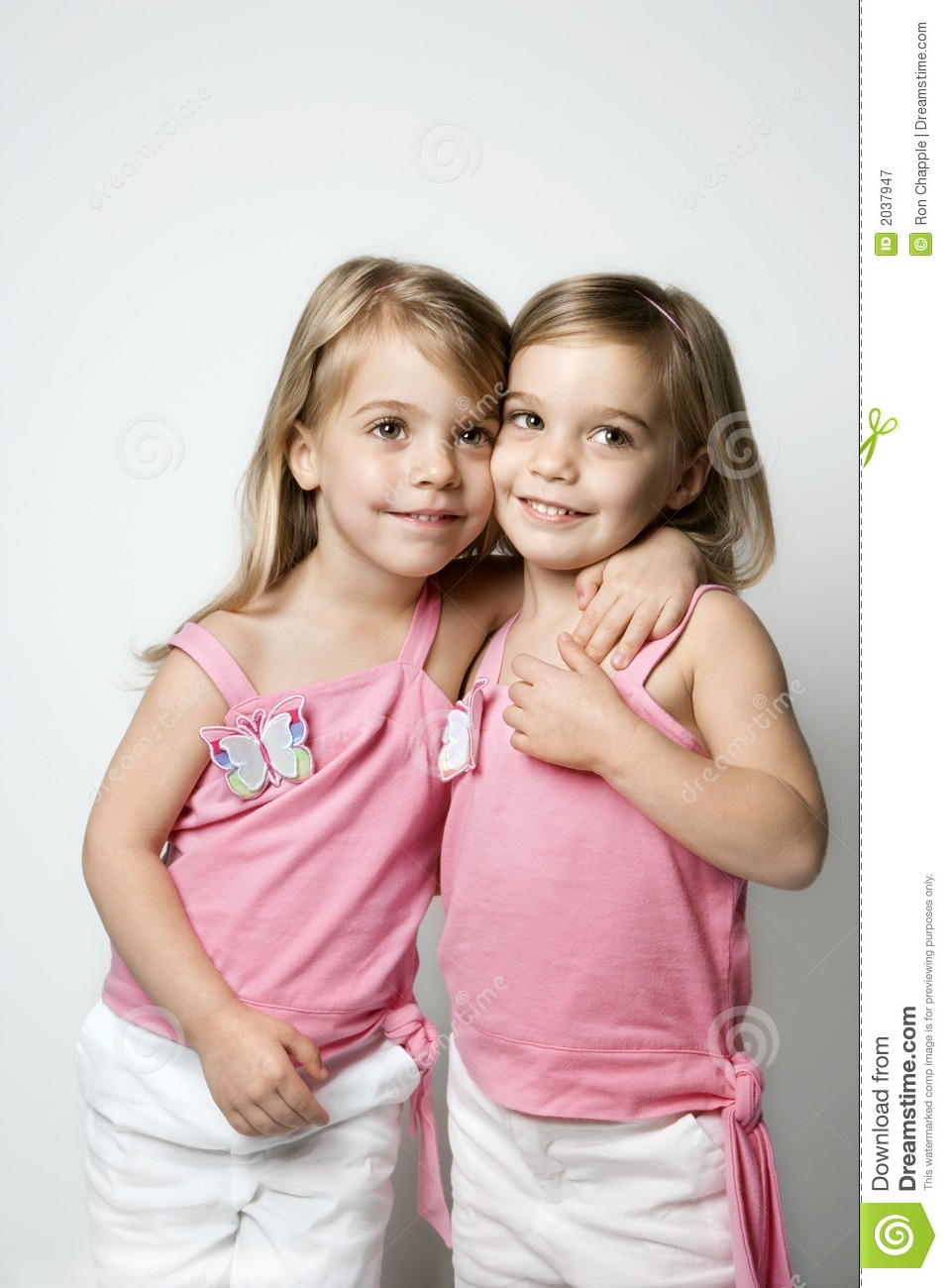 Caucasian Twin Girls. Royalty Free Stock Photography - Image: 2037947: https://www.dreamstime.com/royalty-free-stock-photography-caucasian...