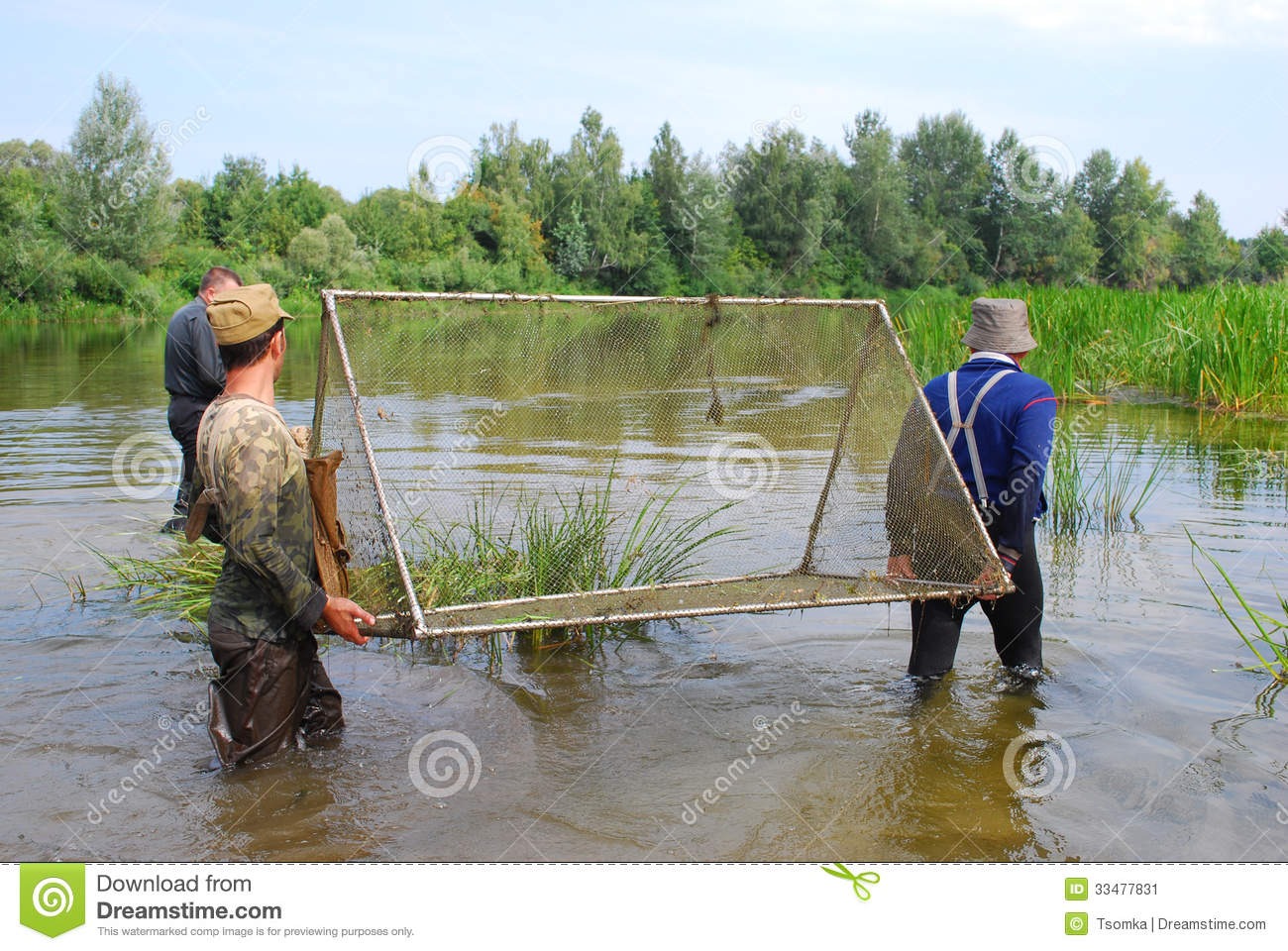 Caught a fish big and small stock image image 33477831 for Small fish net