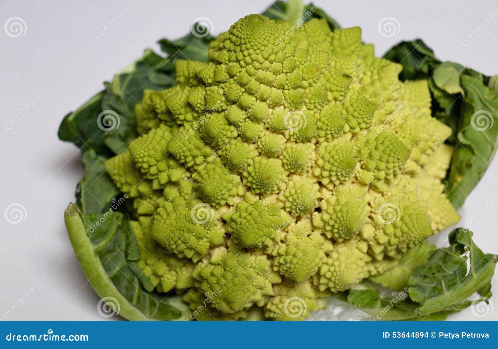 Cauliflower Romanesco Broccoli Plant Stock Photo Image Of