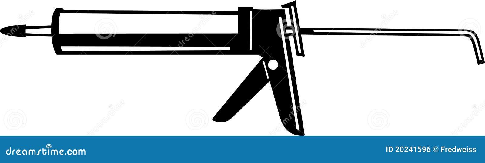 caulking gun stock vector illustration of construction line clip art free line clip art borders