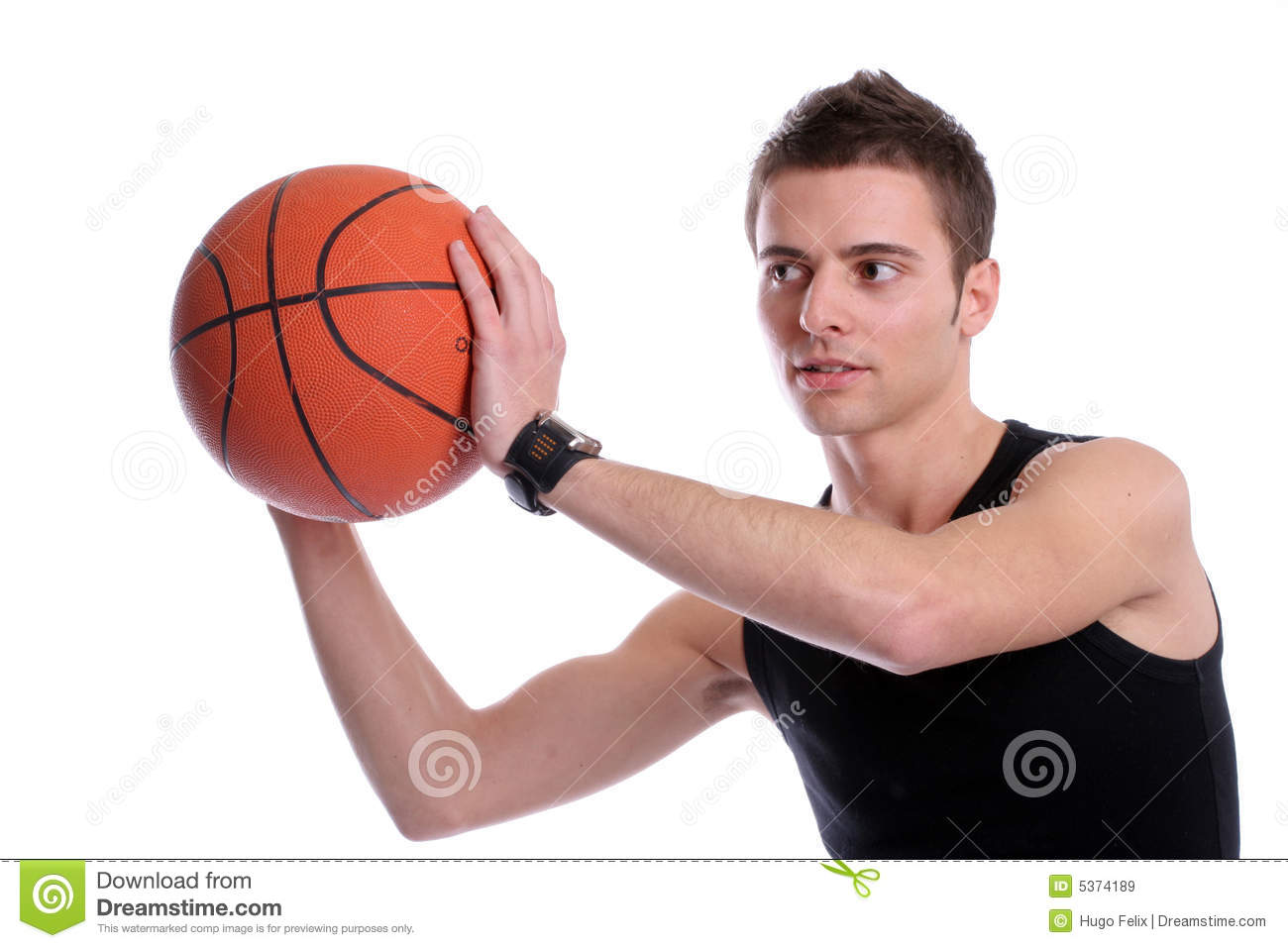 causal man holding basketball ball stock image image of concept