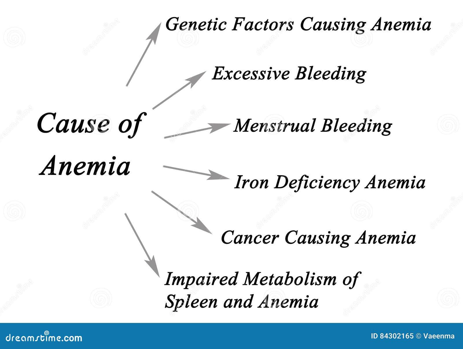 Diagrama de la anemia ilustración del vector. Ilustración de ...