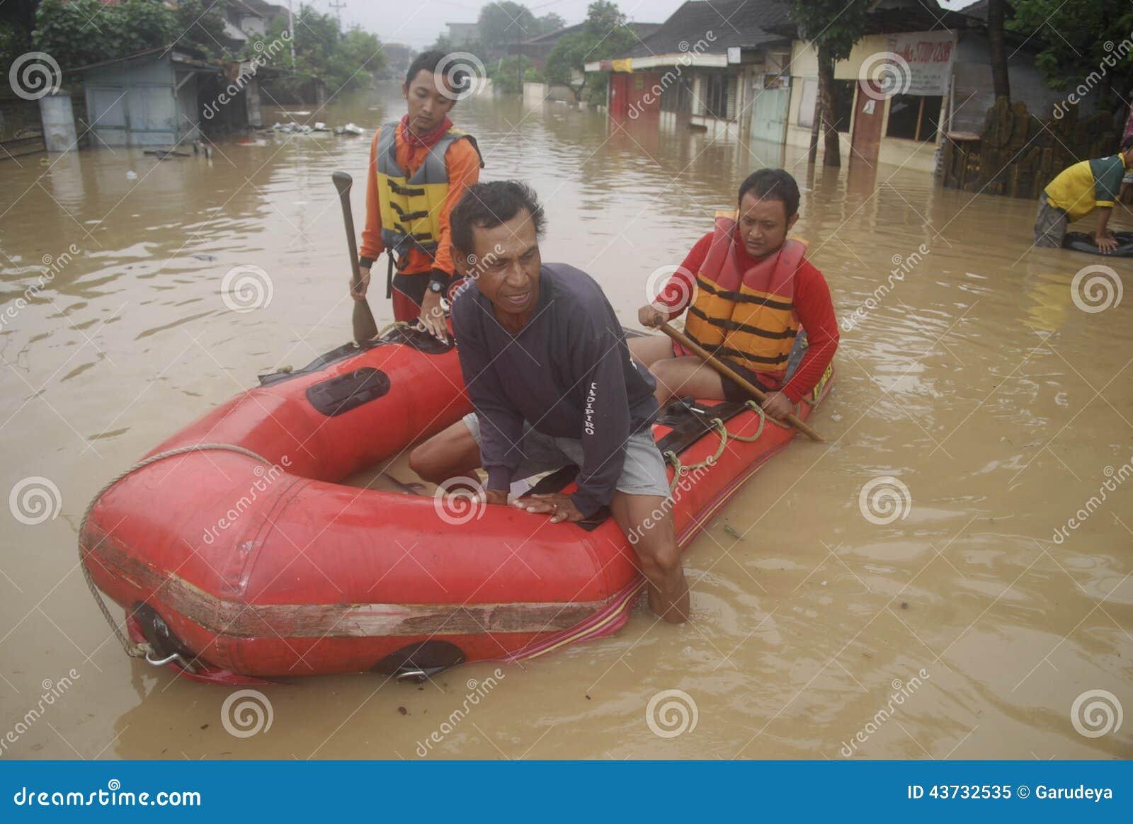 scene of flood