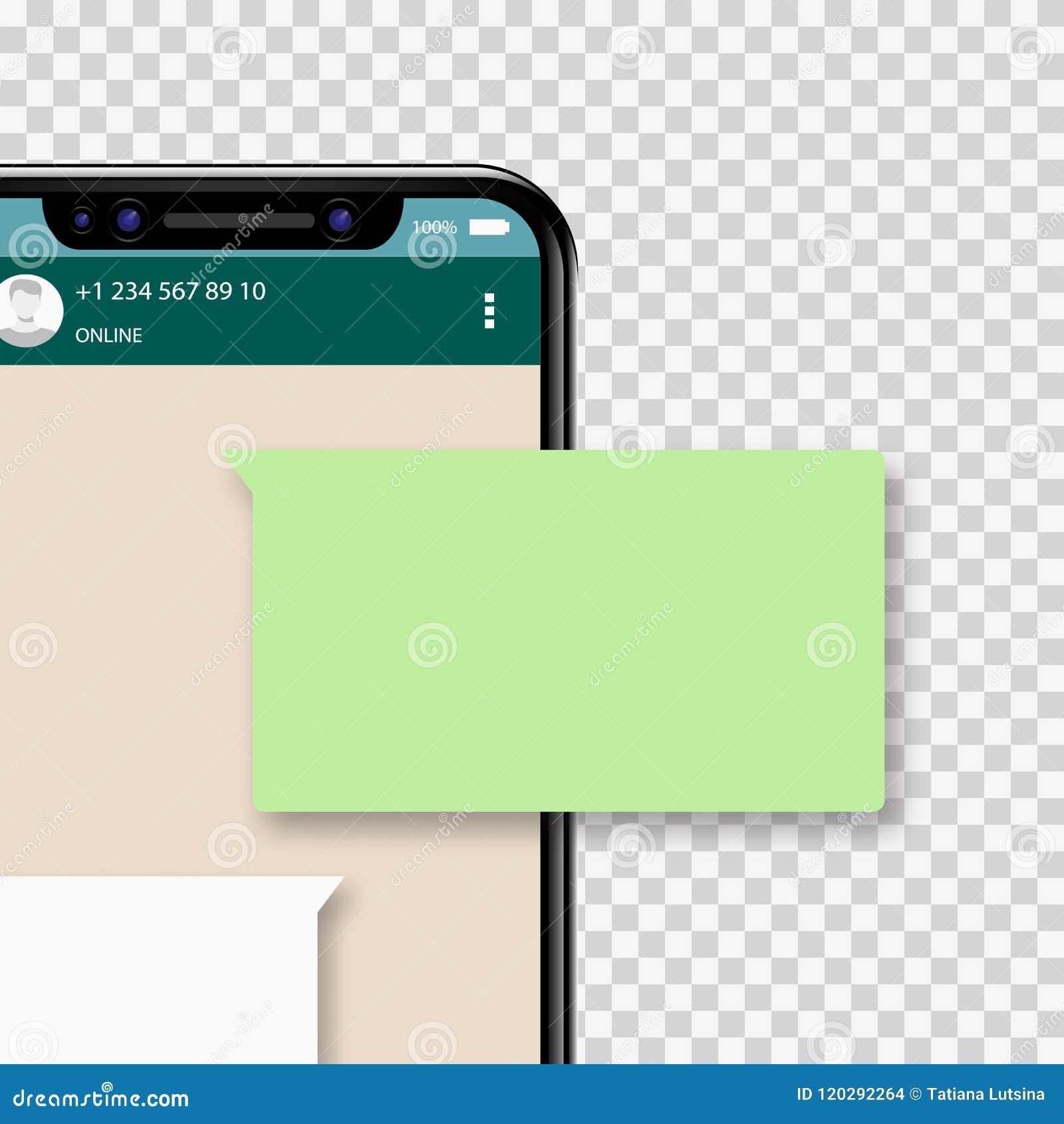 Causez les avis de message au téléphone portable, les discours de causerie verts de bulle, concept de parler en ligne de personne