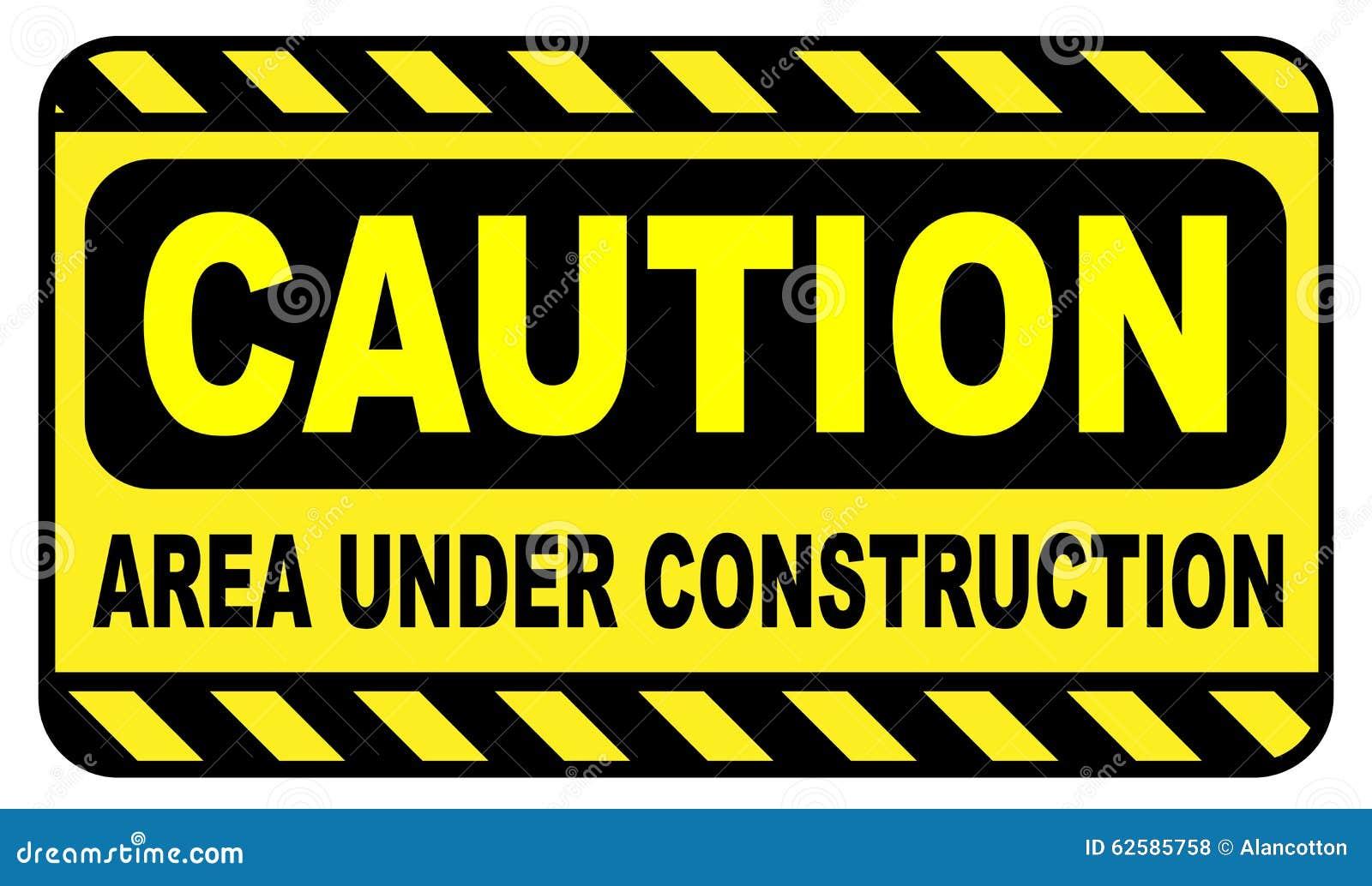 Caution Area Under Construction Stock Illustration