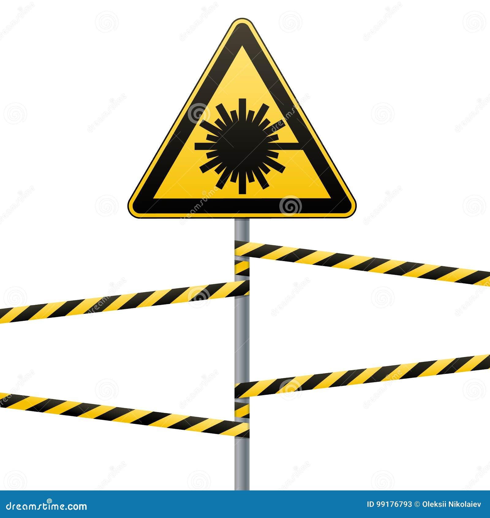 Caution Danger Warning Sign Safety Danger Laser Radiation