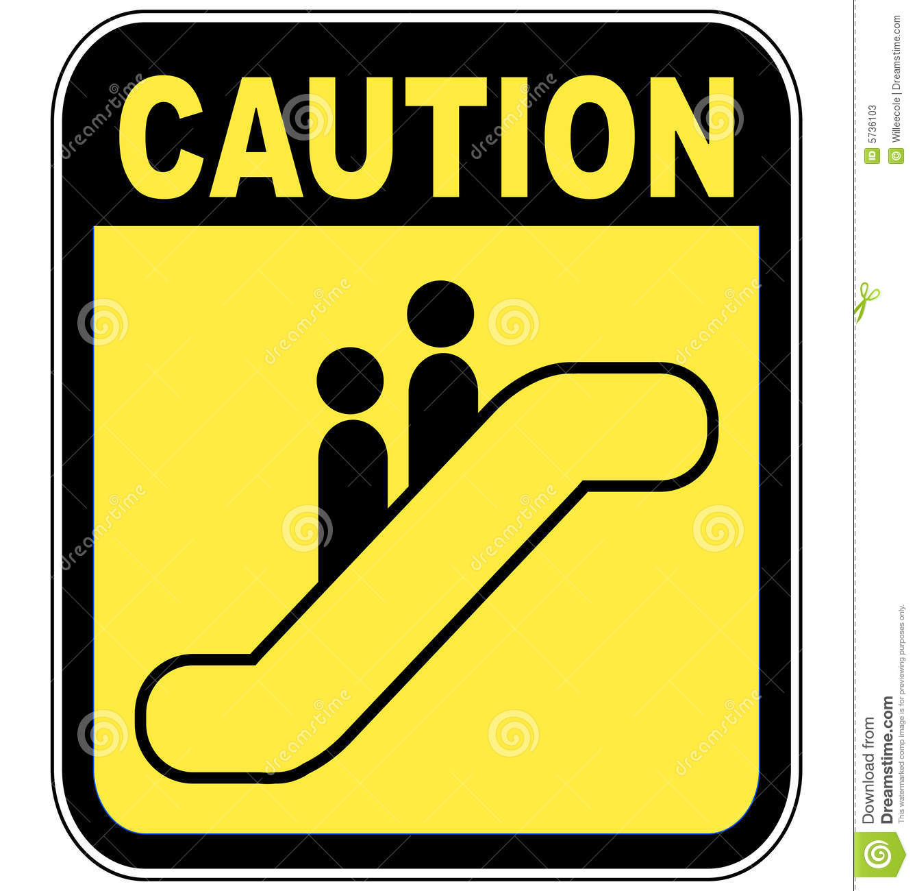 How To Read Floor Plans Caution Escalator Sign Stock Photos Image 5736103