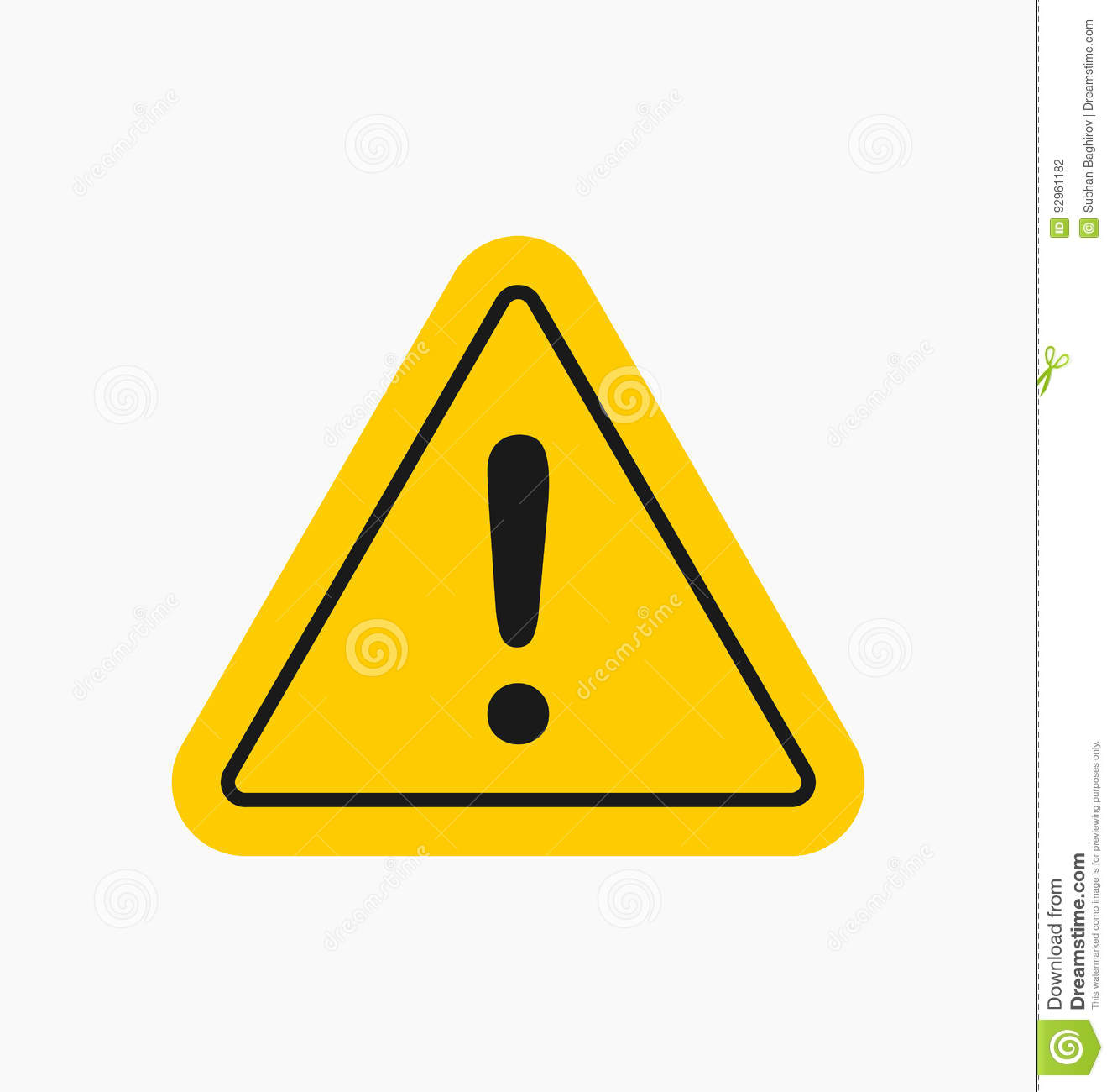 caution icon sign in flat style isolated warning symbol stock rh dreamstime com caution login help caution logo vector