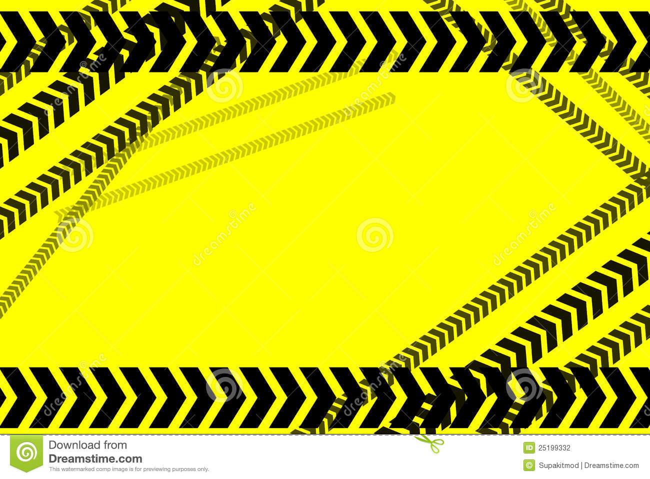 Caution Lines Background Stock Photography Image 25199332