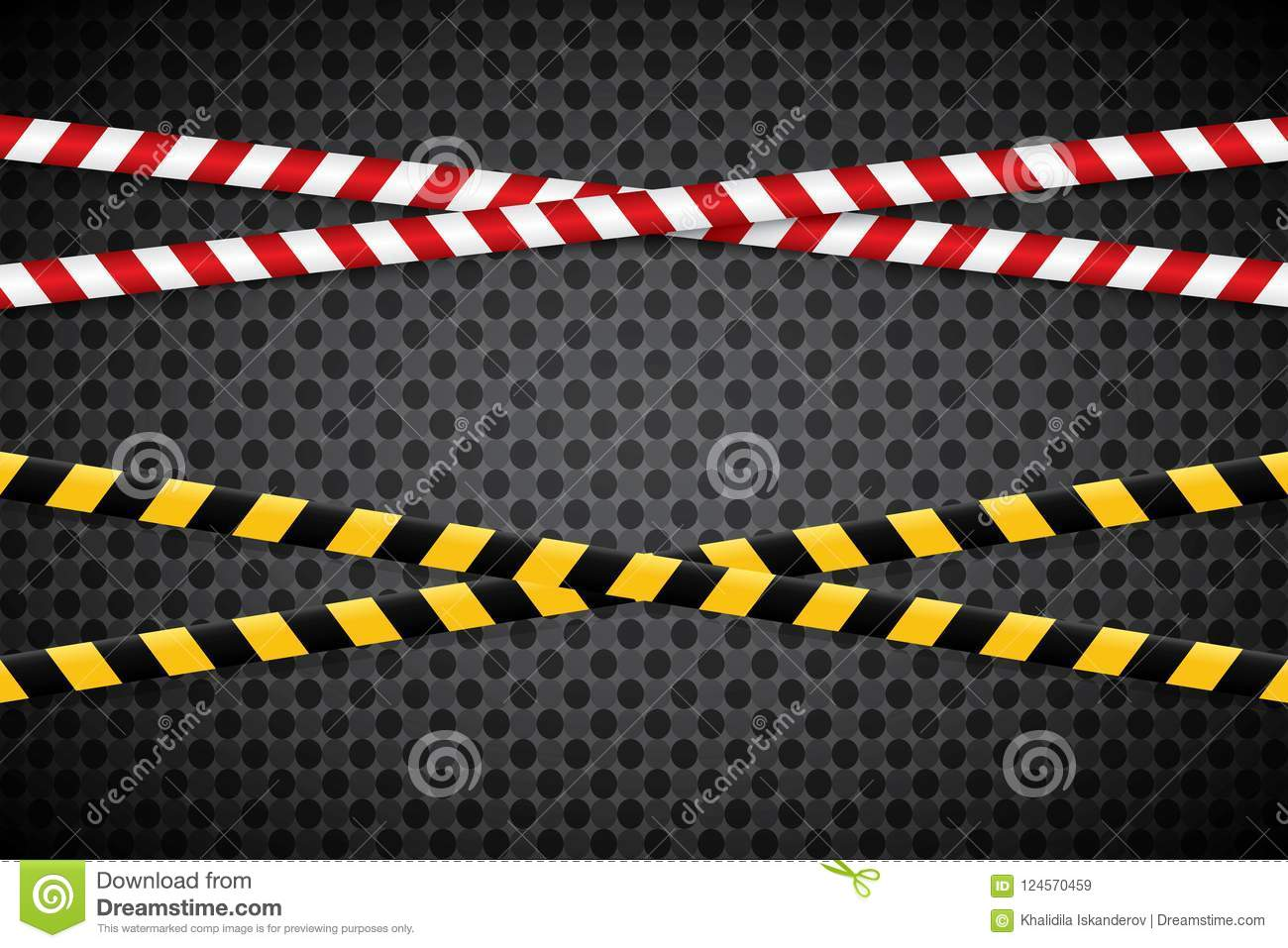 Caution Lines Isolated. Warning Tapes. Danger Signs. Stock Vector ...