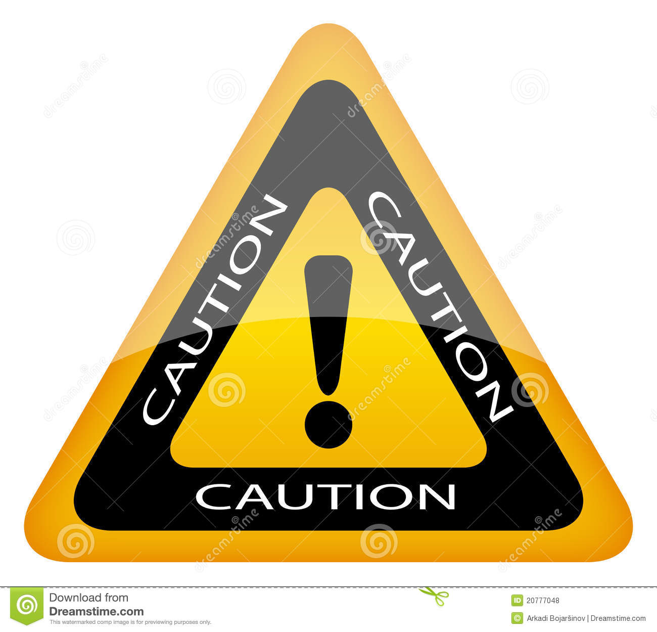 Caution sign stock vector. Illustration of dangerous ... | 1300 x 1250 jpeg 111kB