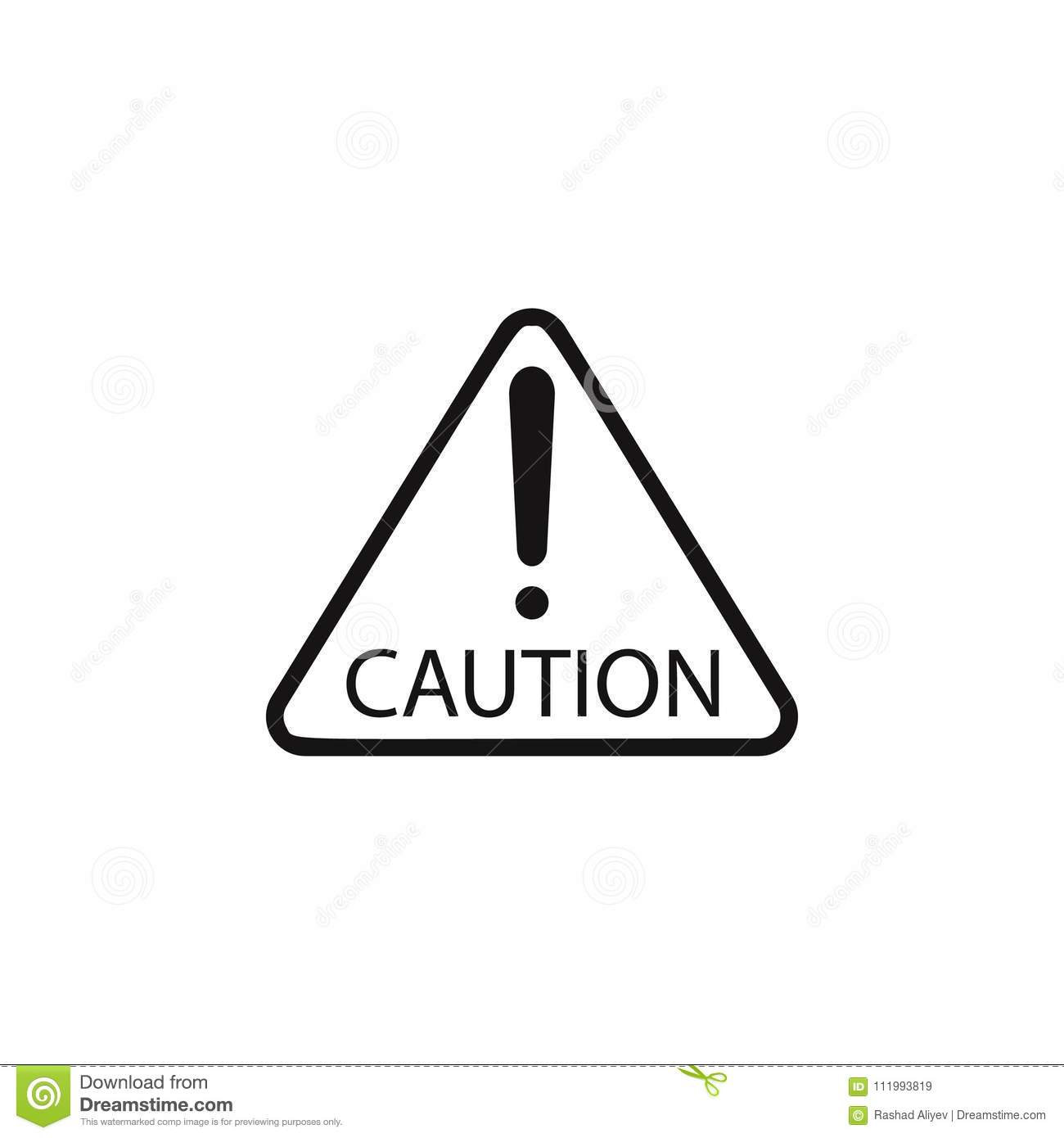 Caution Sign Icon Element Of Danger Signs Icon Premium Quality