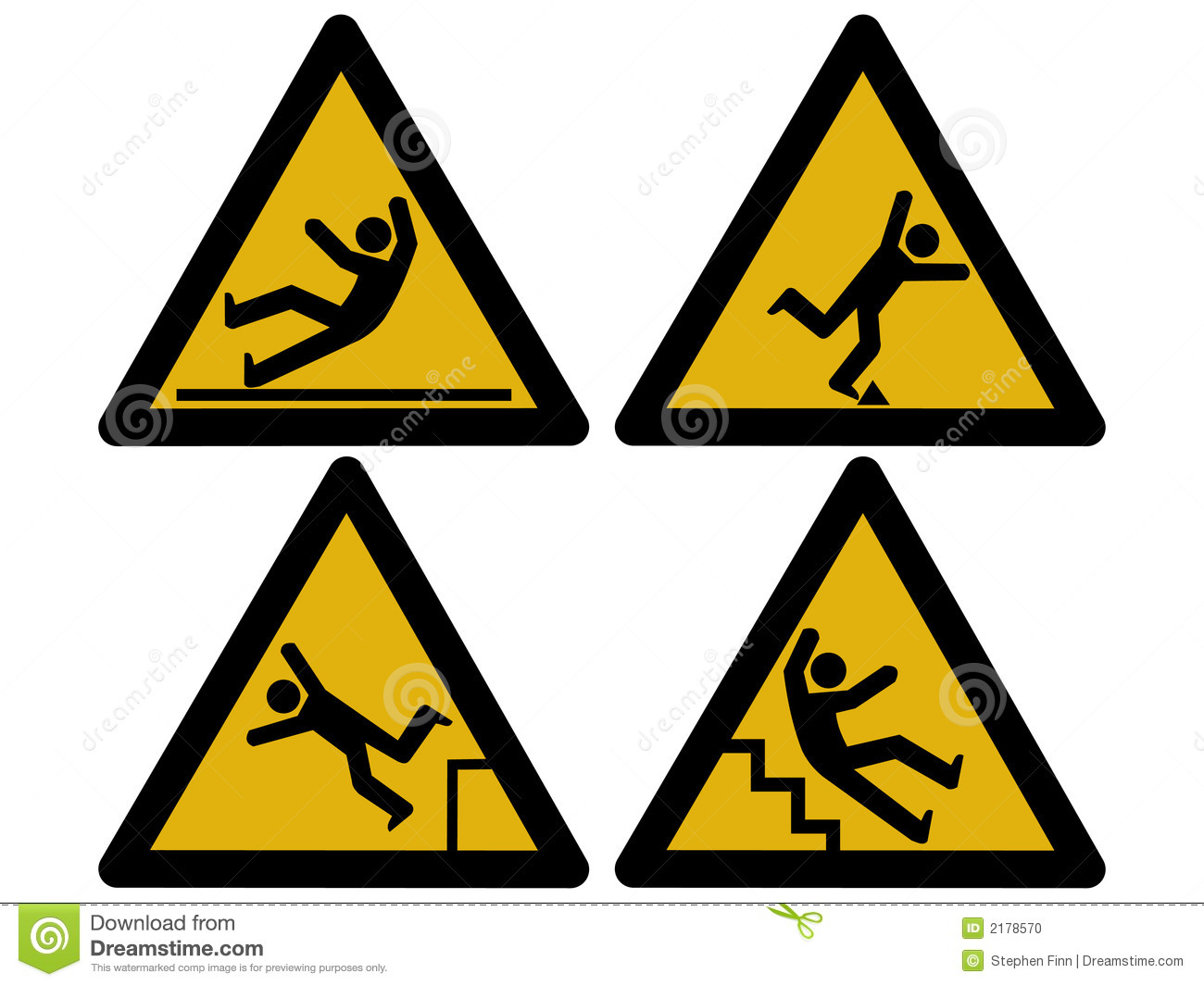 Caution Signs Stock Photo Image 2178570