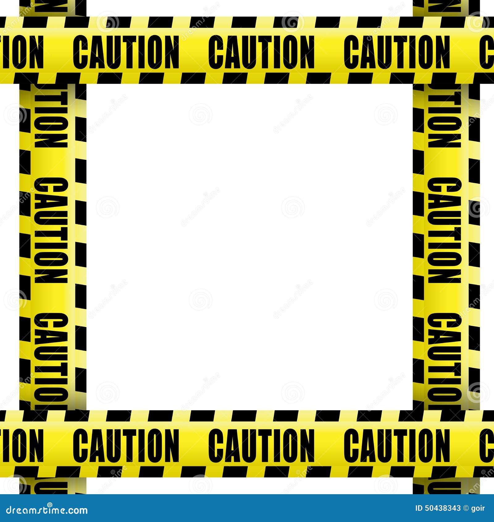 Caution Tape Frame Stock Photo Image 50438343
