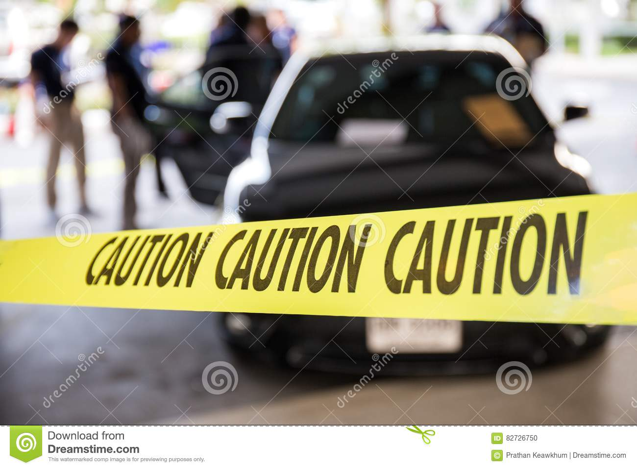 caution tape protect vehicle in crime scene investigation training course